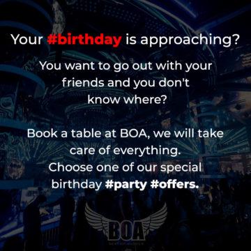 Celebrate your Birthday at BOA