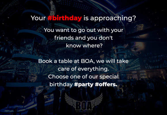 Celebrate your Birthday at BOA